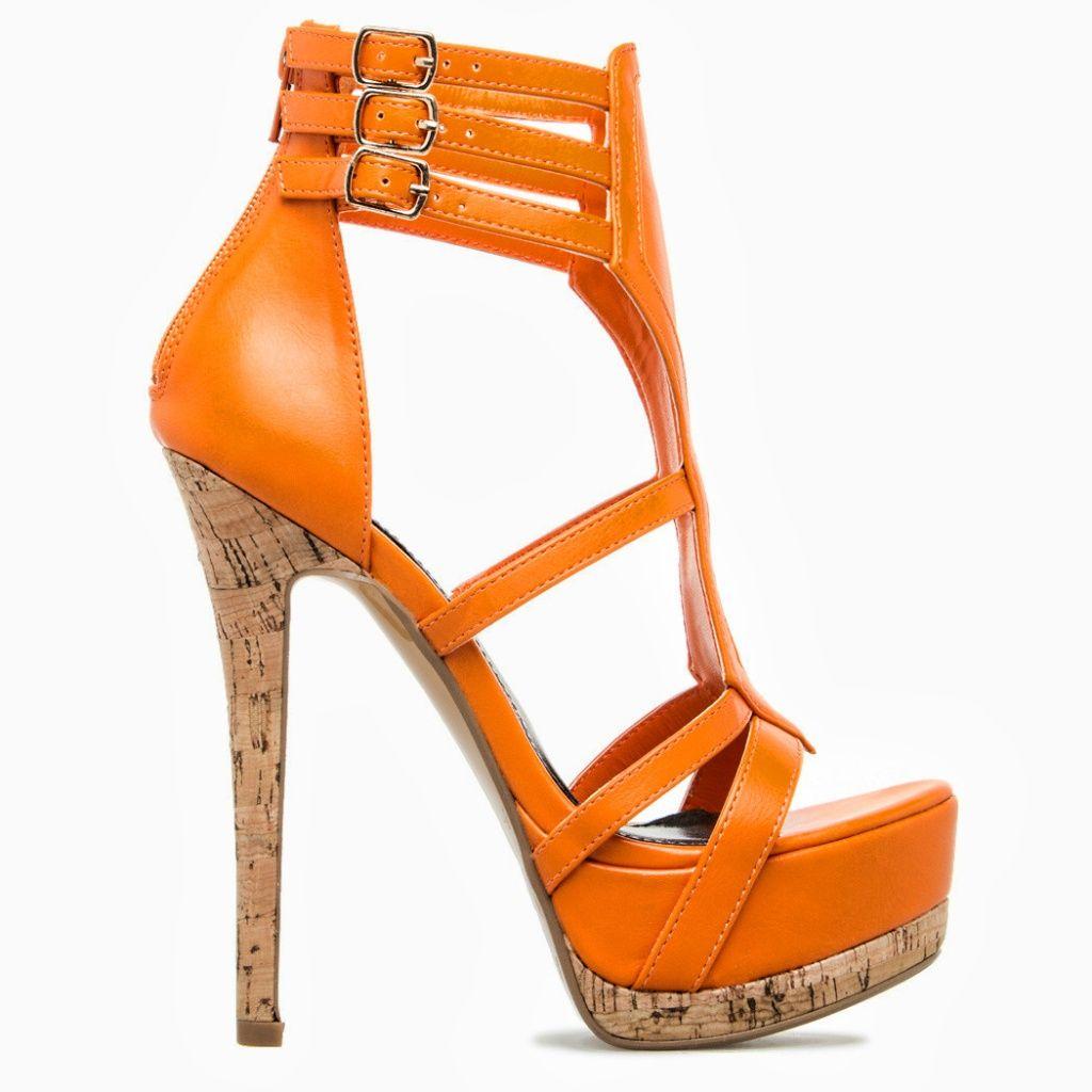 Scene by ShoeDazzle Womens Baylee Strappy Cork Stiletto Heel