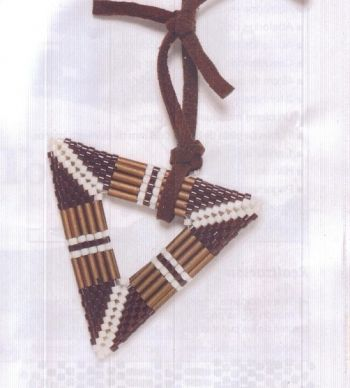 Brown triangular pendant