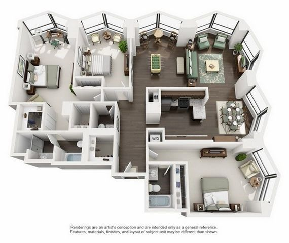 North Harbor Tower Floor Plans