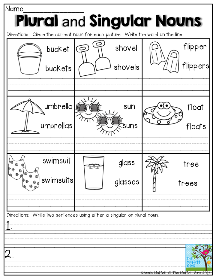 Summer Review Packets! (With images) | Nouns first grade ...