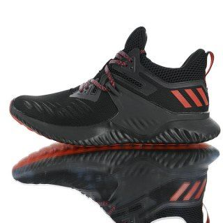 27e463432 Mens Winter Jogging Shoes Adidas AlphaBounce Beyond 2 M CNY All black red  bars G28012