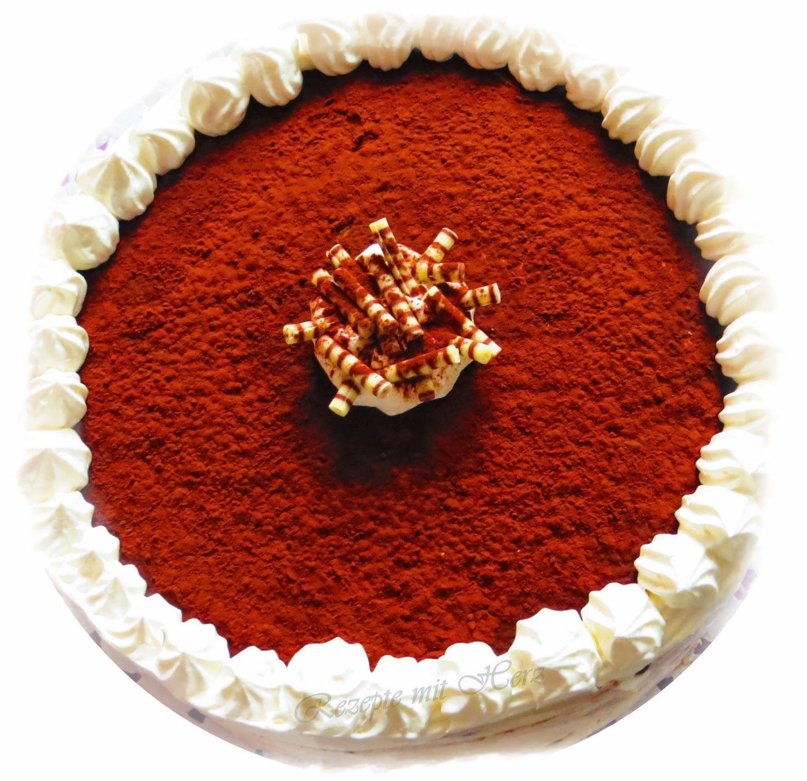 Thermomix Rezepte mit Herz Tiramisu Torte