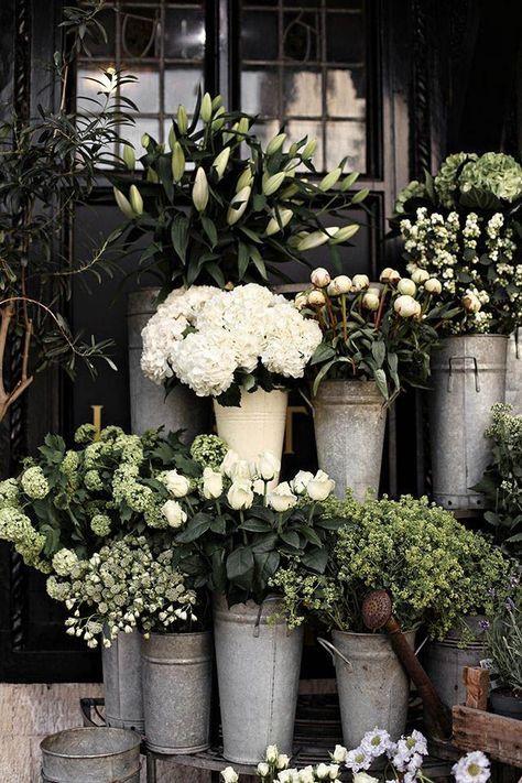 Big buckets of rustic white flowers garden container pinterest big buckets of rustic white flowers mightylinksfo