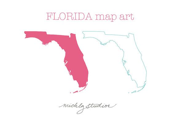 Png Vector Florida Map Digital Clip Art State Country Etsy Map Of Florida Map Art Map Sketch