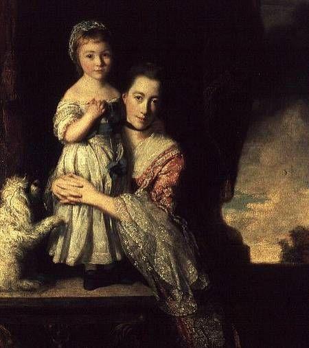 Countess Spencer with Lady Georgiana Spencer