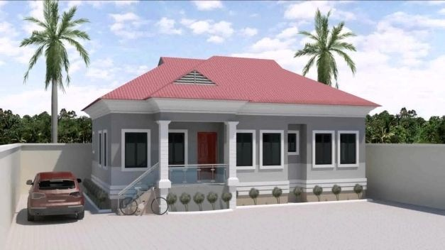 Modern 3 Bedroom Flat Plan In Bungalow House Design Bungalow Floor Plans Bungalow Design