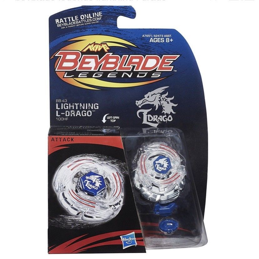 Beyblade BB43 Launcher Lightning L-Drago Metal Fusion Beyblade Metal Fight Toys