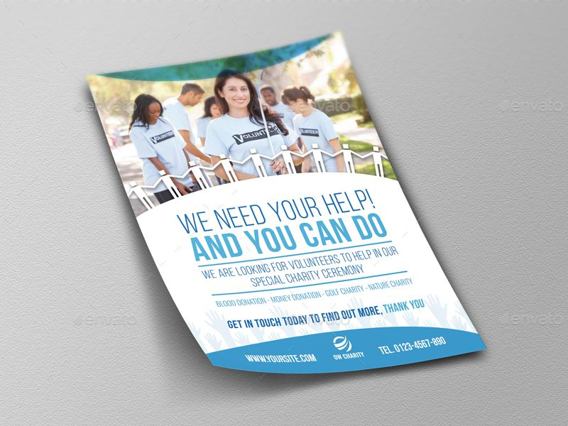 Volunteer Charity Flyer Template Vol2 Charity Volunteer Flyer