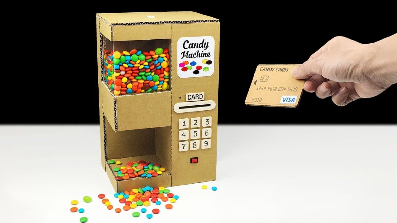 How to Make Candy Dispenser Vending Machine Using Card