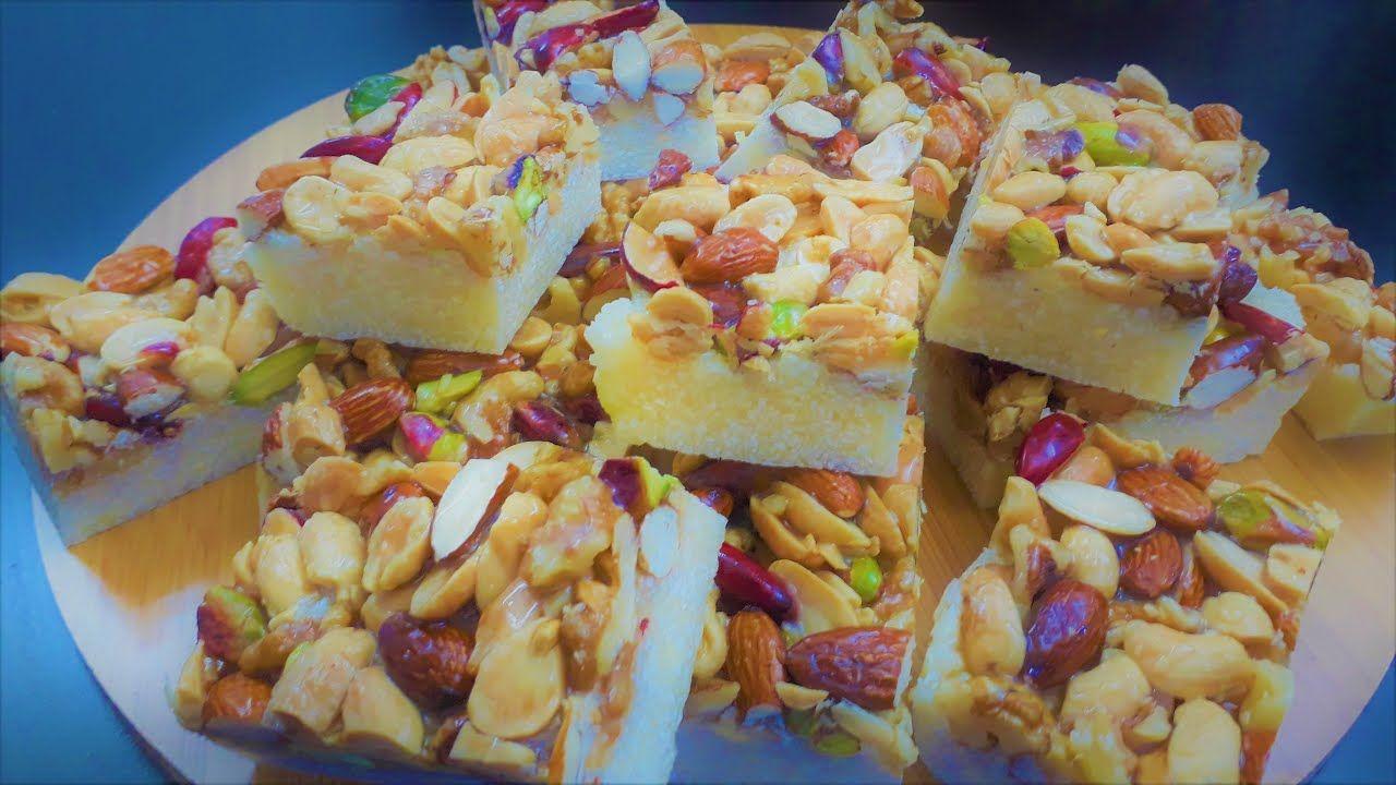 هريسة جوز الهند بدون فرن حلويات المولد