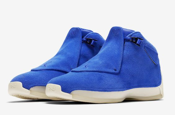 Official Images  Air Jordan 18 Blue Suede The Air Jordan 18 is making a  strong 54b24cb29
