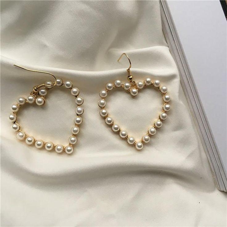 itGirl Shop PEARL HEARTS MINIMAL EARRINGS Aesthetic Apparel, Tumblr Clothes, Sof... -  itGirl Shop PEARL HEARTS MINIMAL EARRINGS Aesthetic Apparel, Tumblr Clothes, Soft Grunge, Pastel go - #aesthetic #Apparel #Clothes #daintyjewelry #earrings #HEARTS #itGirl #jewelryaesthetic #jewelrysimple #Minimal #Pearl #Shop #Sof #Tumblr