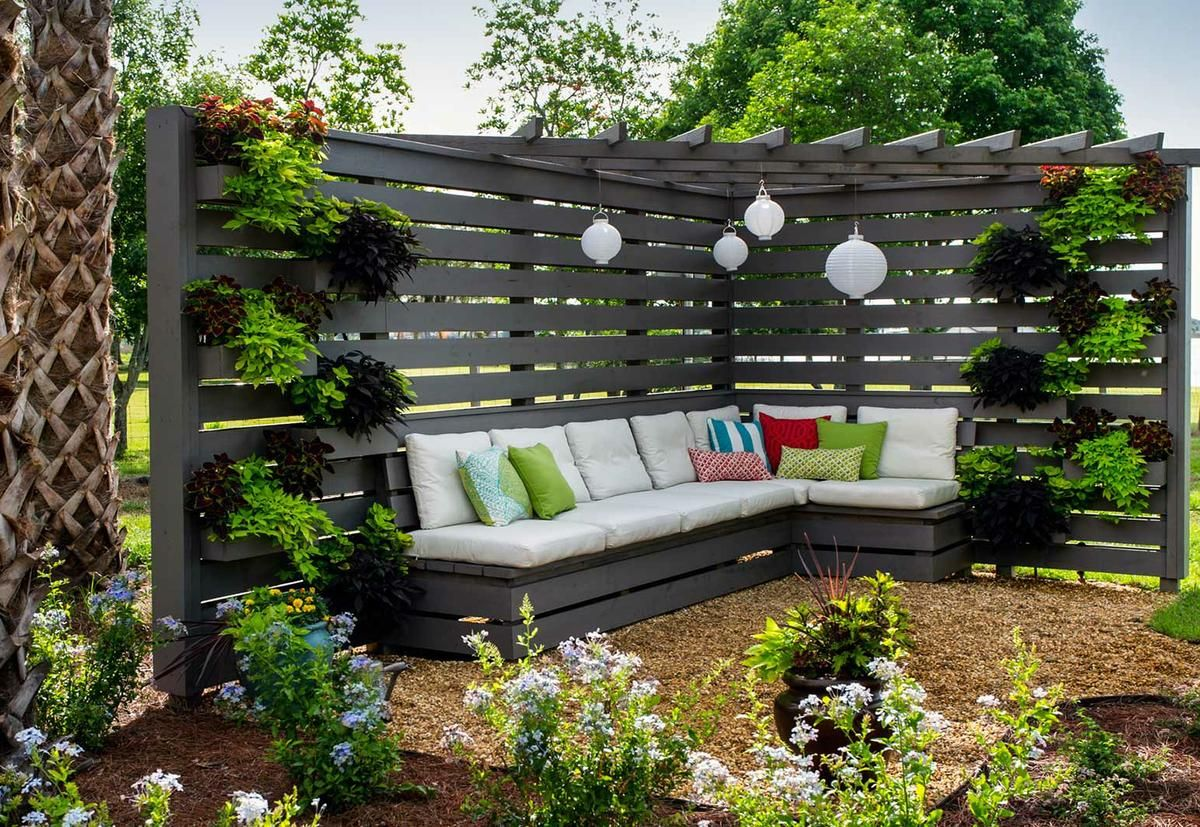 cómo decorar un jardín con palés | jardín ideas | pinterest