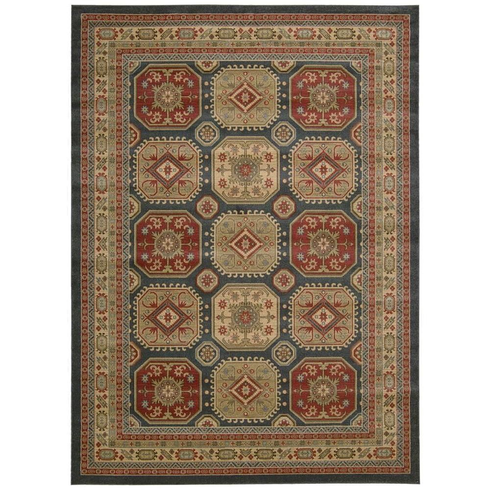 Maymana Midnight (Black) 7 ft. 10 in. x 10 ft. 10 in. Area Rug