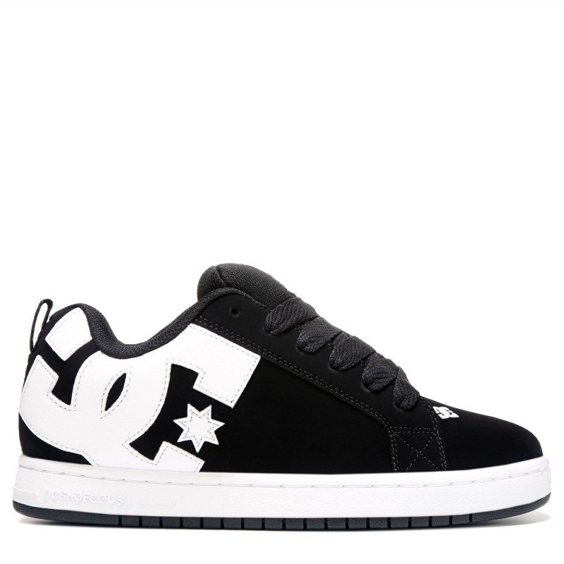 2f5bcccce03610 DC Shoes Men s Court Graffik Skate Shoes (Black White)