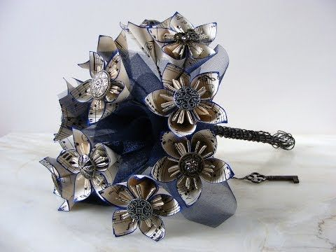 Photo of Origami Steampunk Wedding Bouquet Tutorial | Elizabeth's Kitchen Diary