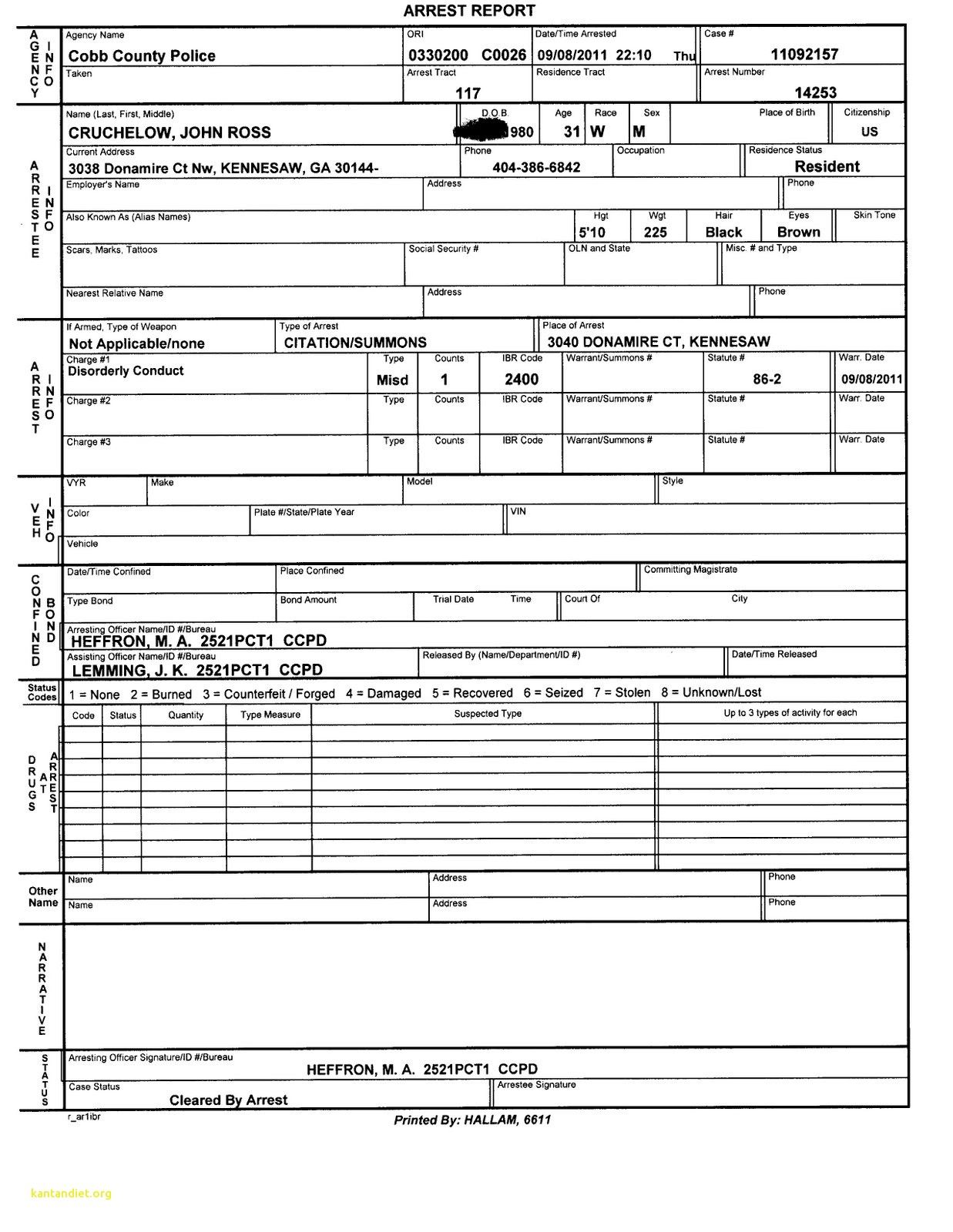 Image Result For 1980 Police Report
