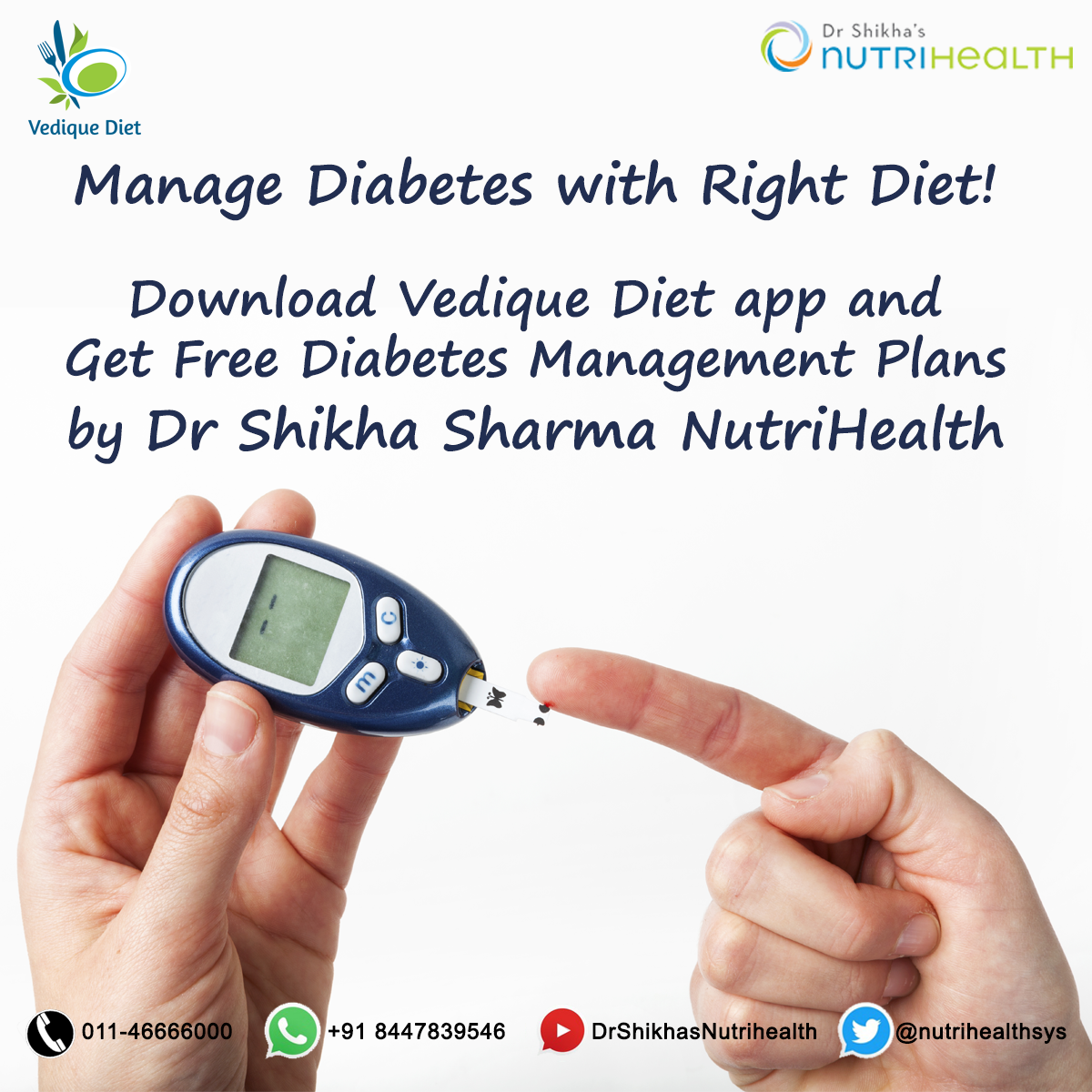 Get free Diabetes Management Plans in Vedique Diet app