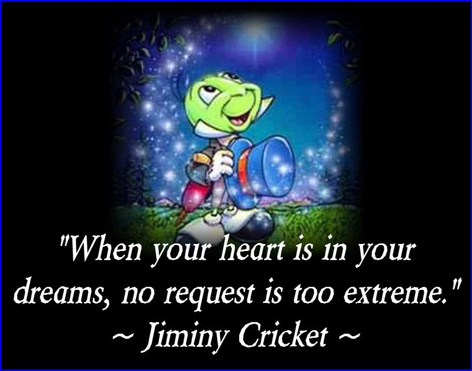 Sport For Jiminy Cricket Quotes Wish Upon A Star Disneymouse