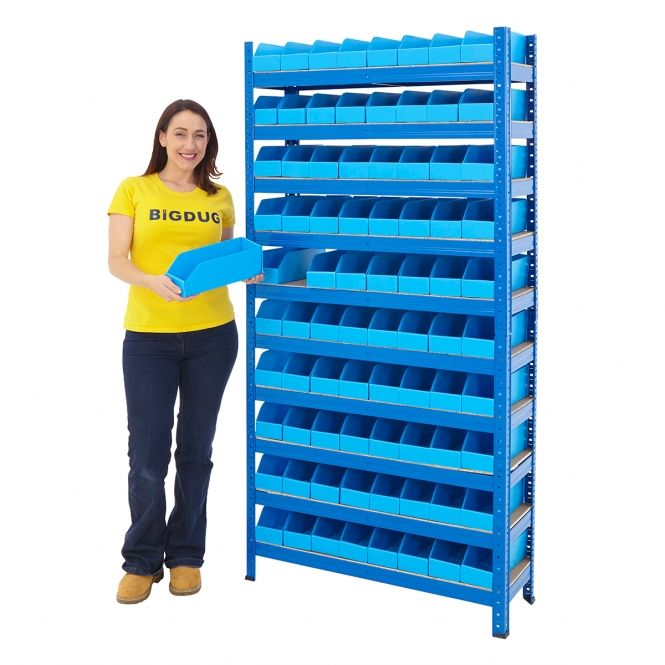 Newpo Shelving With Correx Plastic Parts Bin Kits Storage Kits Shelving Storage House