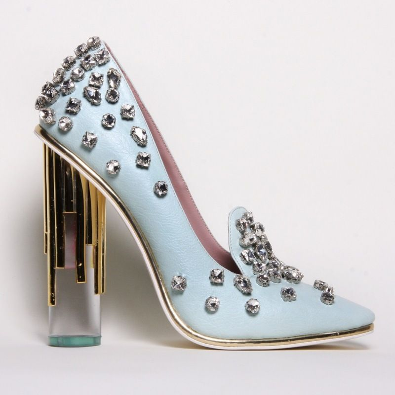 Christian Siriano blue lucite pump | Heels, Me too shoes, Pumps