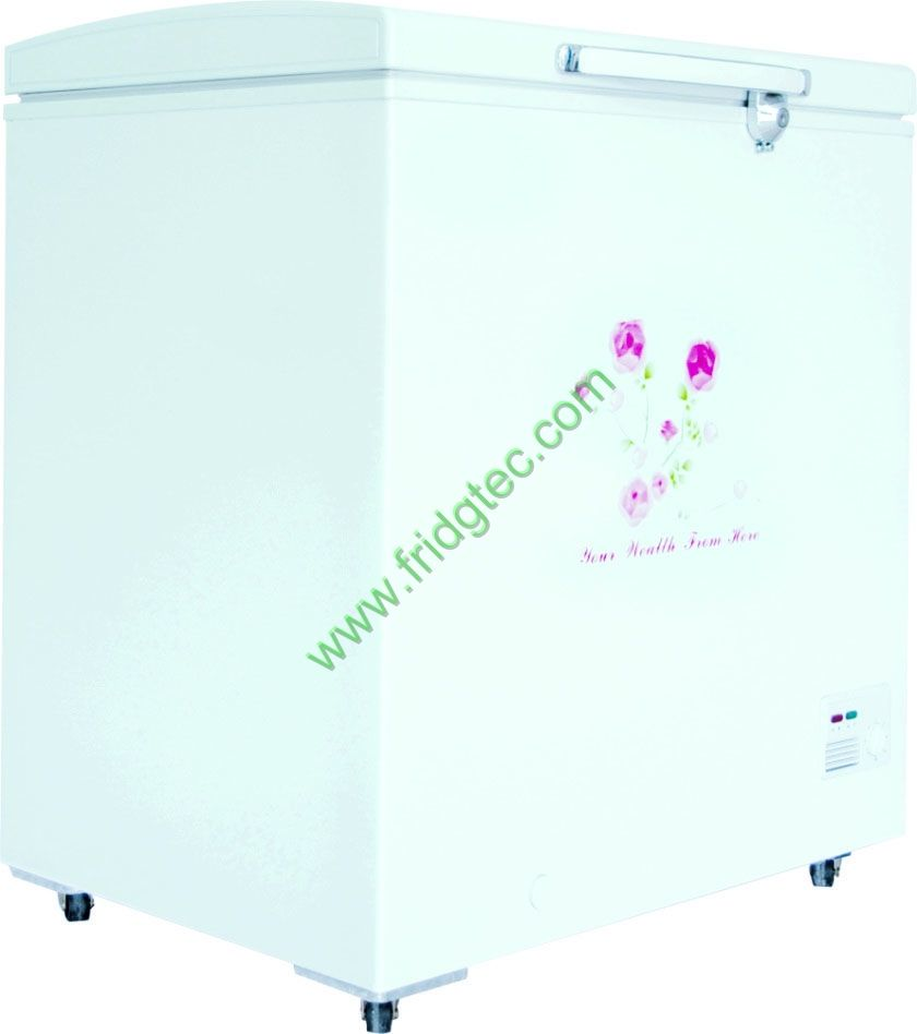 Hinged lid chest freezer BD/BC-155 from China (155 liters hinged lid chest freezer)