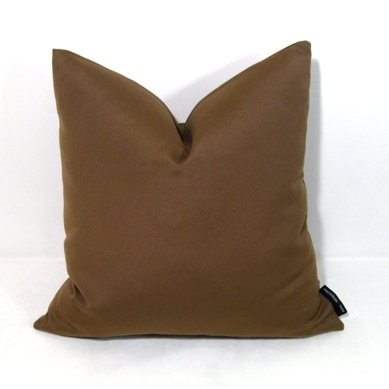 Cocoa Brown Outdoor Pillow Cover, Modern Chocolate Brown Throw Pillow,  Masculine Pillow Case, Decorative Sunbrella Cushion Cover, Mazizmuse
