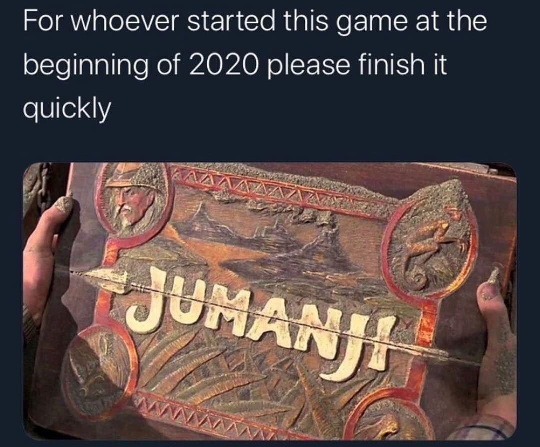 2020 Welcome To Jumanji Meme