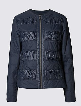 Padded & Quilted Ruche Coat with Stormwear