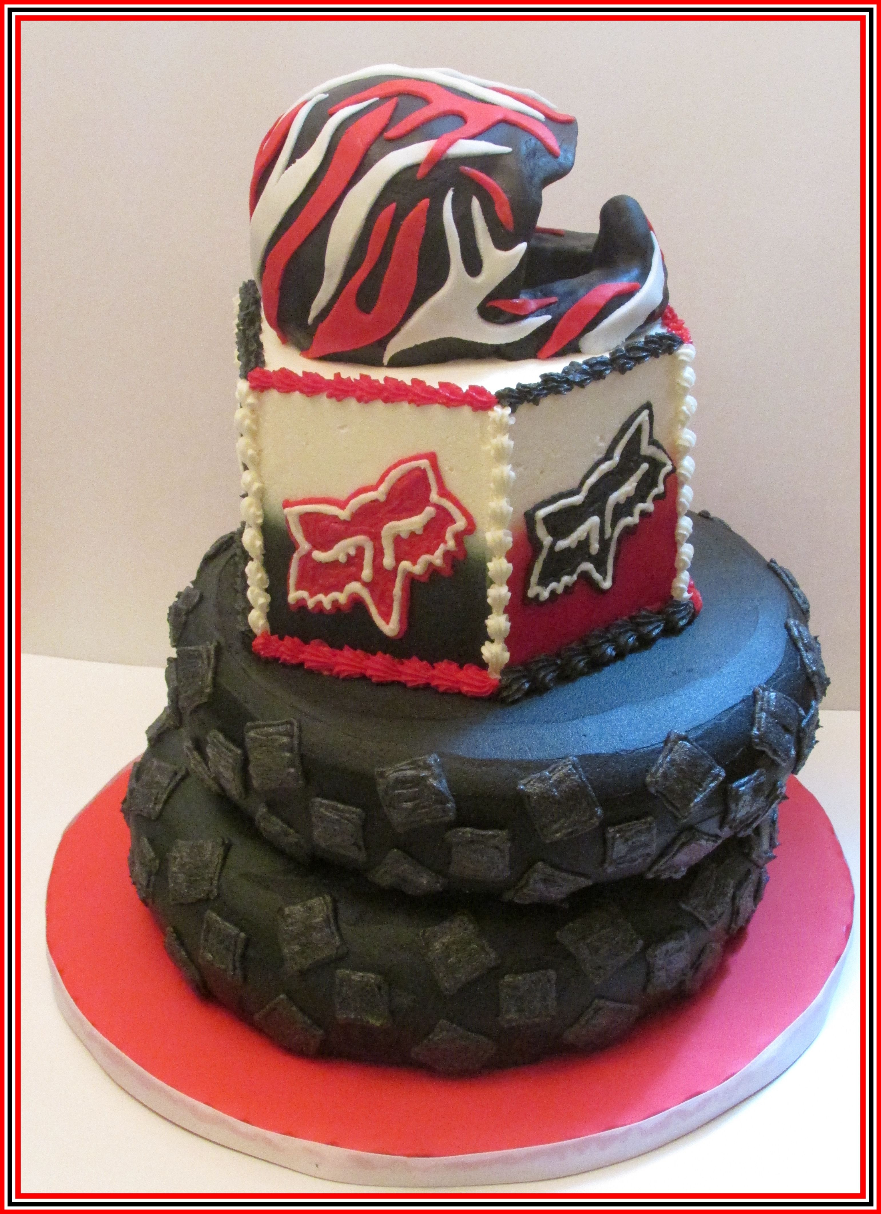 Fox Racing Cake Buttercream Iced Cake With Rkt Covered