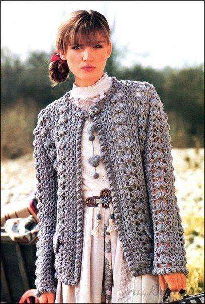 Фотография | Вязаное крючком пальто, Вязаная крючком ...