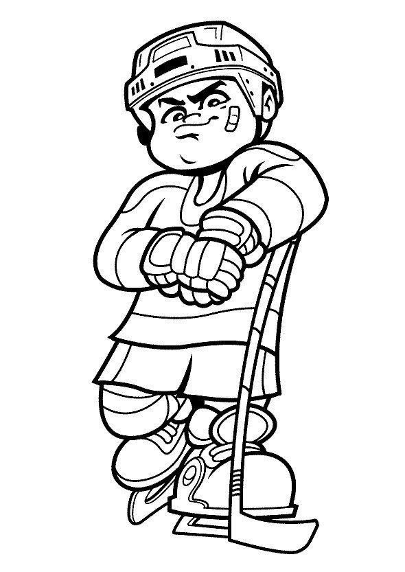 Coloriage Dessins. Sportif 43 | Barnetegning | Pinterest | Hockey ...