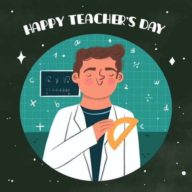 Hand Drawn Style Teachers Day Free Vect Free Vector Freepik Freevector Design Education World Teacher In 2020 Happy Teachers Day Teachers Day Vector Free