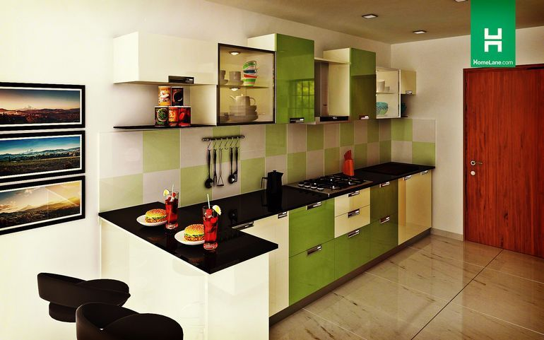 Robin Lustrous Parallel Kitchen  Snazzy Colours Sleek Designa Amusing Design Kitchens Online 2018