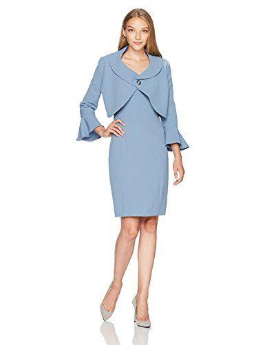 16560be3d2b Tahari by Arthur S. Levine Women s Petite Size Pebble Crepe Jacket Dress