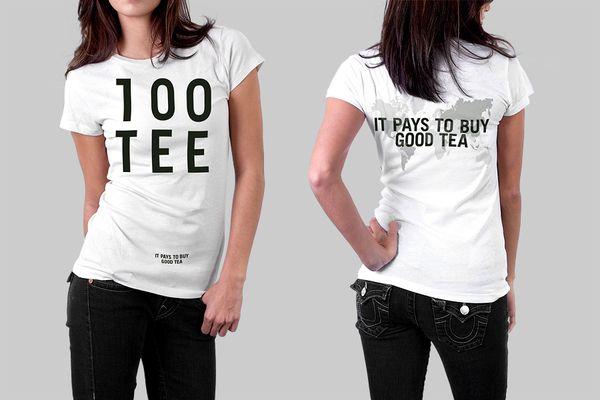 100TEE - It pays to buy good tea by Jann de Vries, via Behance #tshirt #marketing #advertising