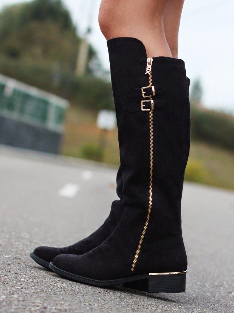 91840cf26e Botas negras Xti | Looks and shoes | Huellamoda | Botas negras ...