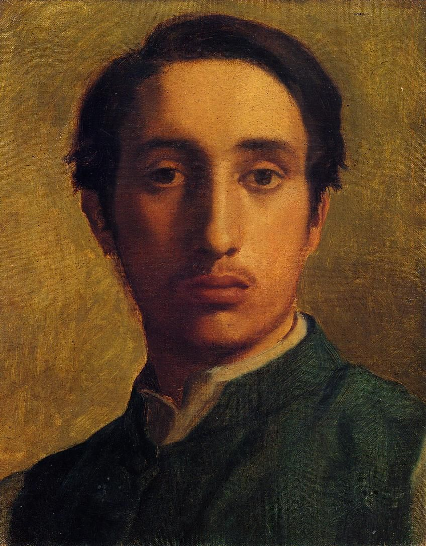 Edgar Degas Self Portrait 1855 Although He Is Associated With