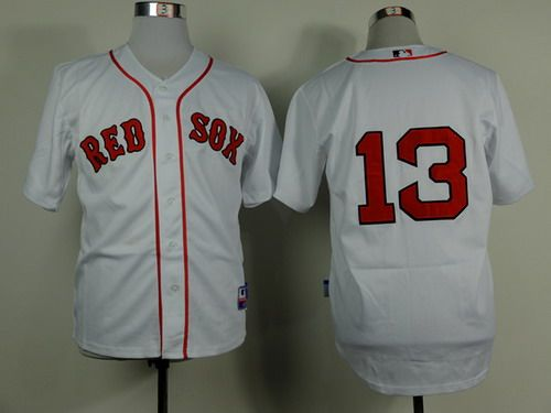 Boston Red Sox #13 Hanley Ramirez White Jersey