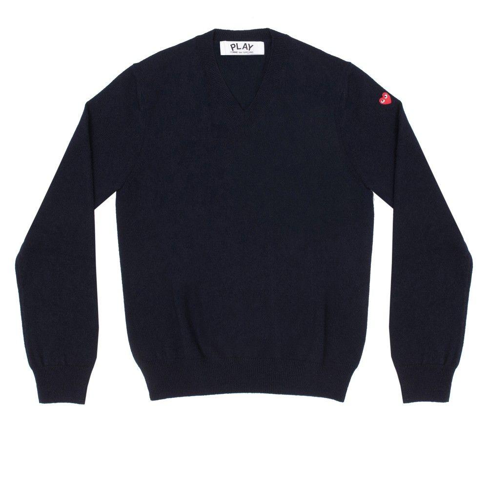 Play Little Red heart V Neck Sweater (Navy)