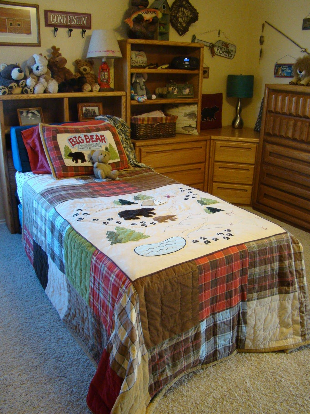 Lodge bedding fishing lodge bedding by woolrich from for Room decor target