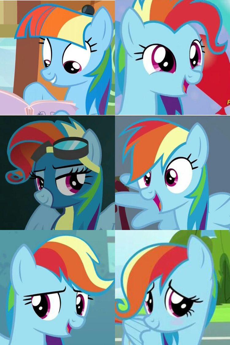 rainbow dash hairstyles little