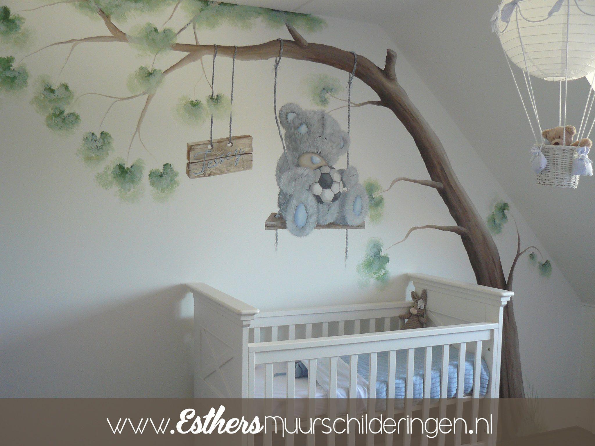 Schommel In Kinderkamer : Muurschildering me to you beer met boom en schommel. leuk voor op de