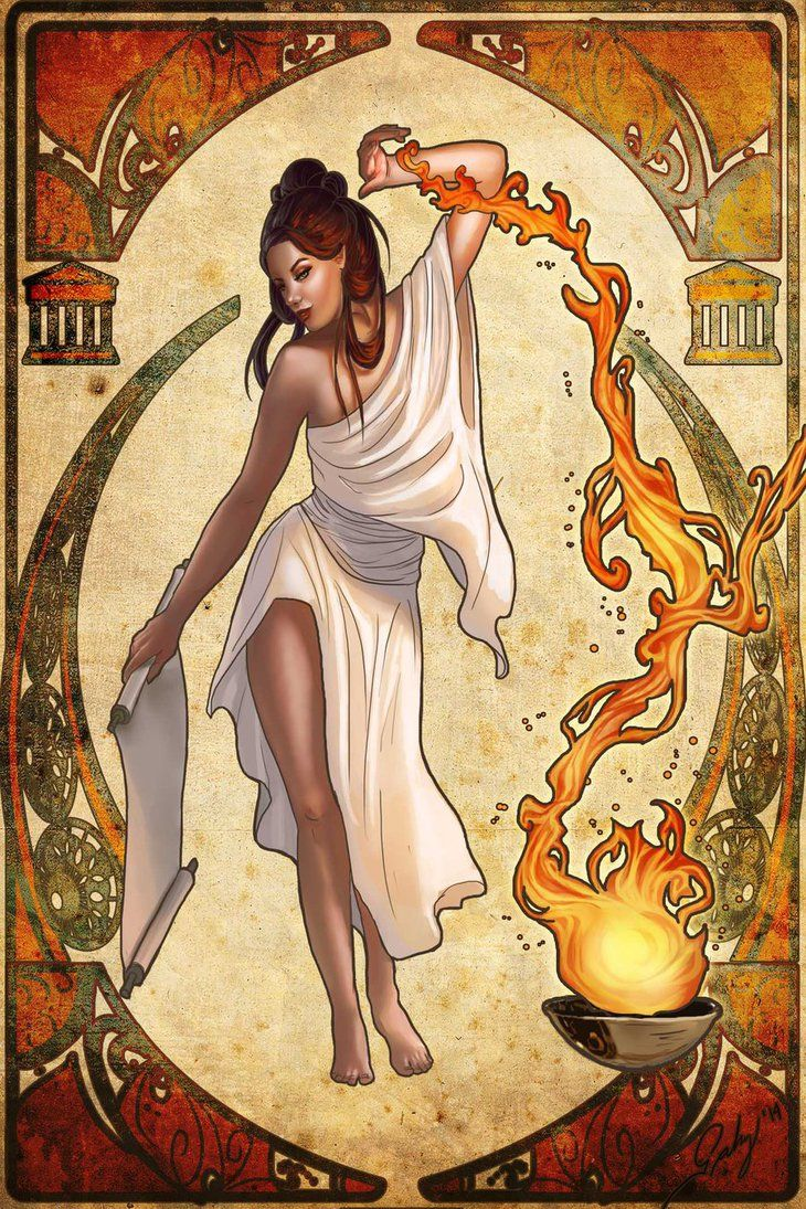 Hestia Goddess Of Fire And Arquitecture Nouveau Goddess