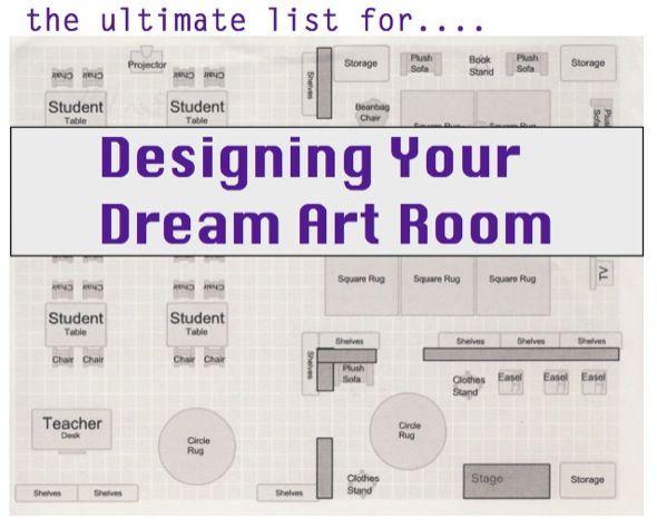 Ultimate Classroom Design ~ Designing your dream art room ed pinterest