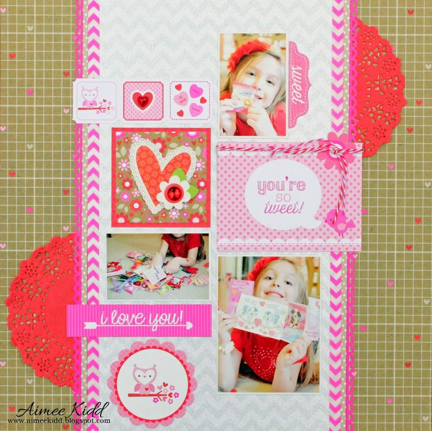 You're So Tweet layout using the Sweetheart collection by Aimee Kidd