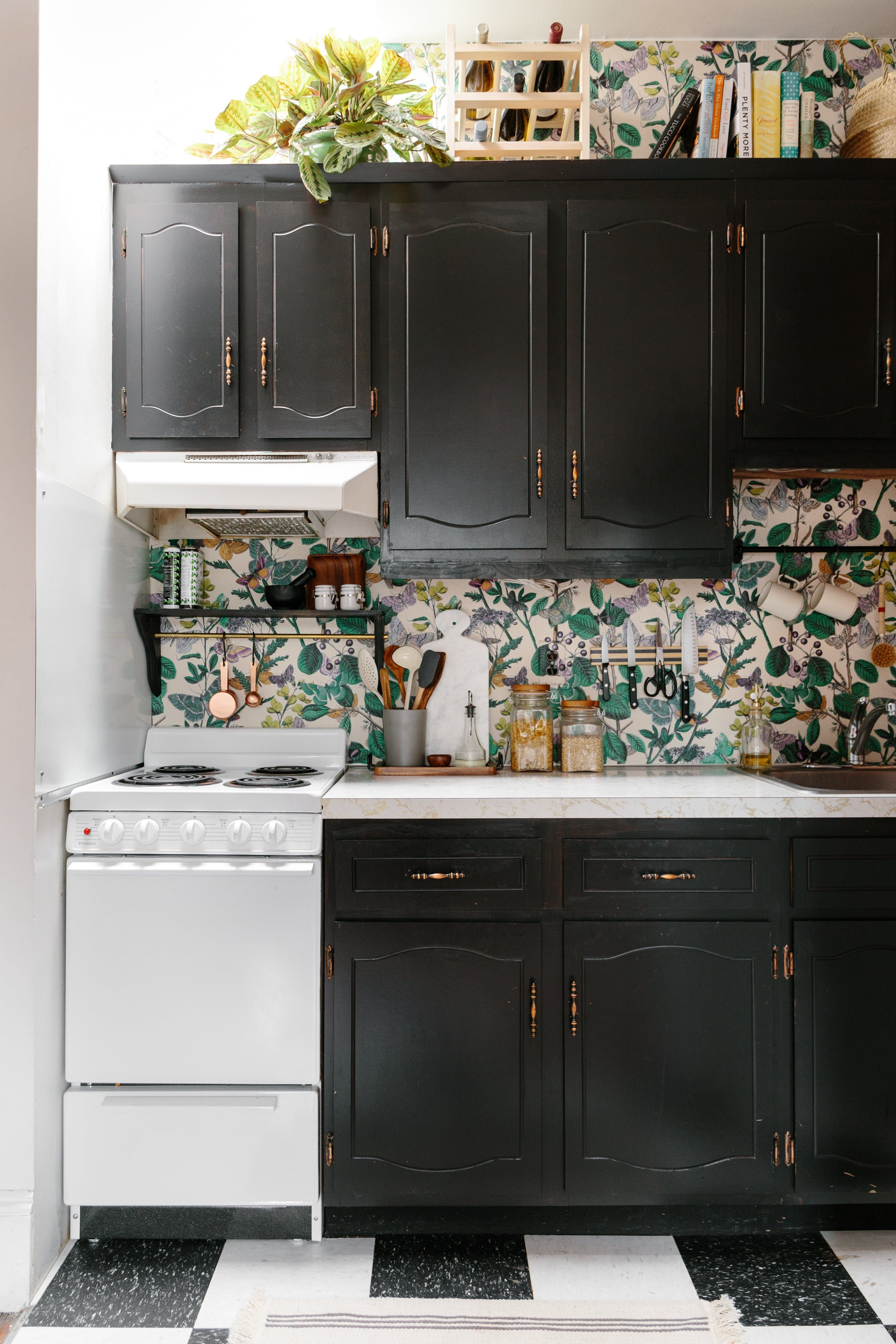 9 Temporary Solutions for an Ugly (or Just Plain Boring) Backsplash on ugly artwork, ugly cross decorations, ugly granite, ugly area rugs, ugly basement, ugly kitchens, ugly electrical, ugly bath, ugly farm sink, ugly ovens, ugly countertops,