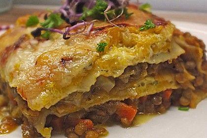 Linsen - Kürbis - Lasagne, ein gutes Rezept aus der Kategorie Pasta. Bewertungen: 125. Durchschnitt: Ø 4,5.