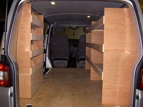 Vw Transporter T5 T28 T30 Van Plywood Racking Shelving Ebay Van Shelving Van Storage Van