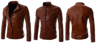 Arrow Mens Rider Style Front 4 Pocket Zipper Lambskin Leather Jacket – iyggt5